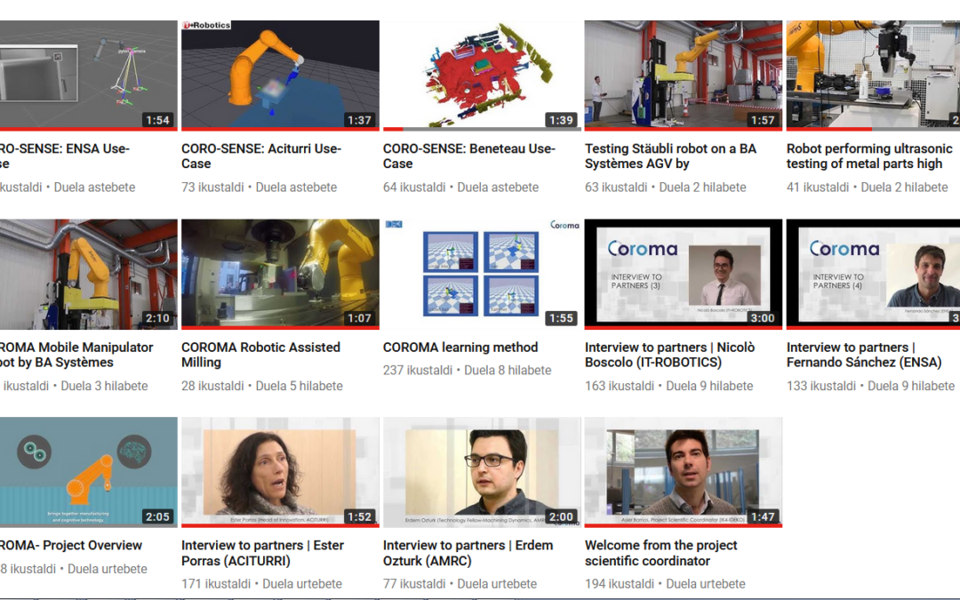 COROMA's youtube channel