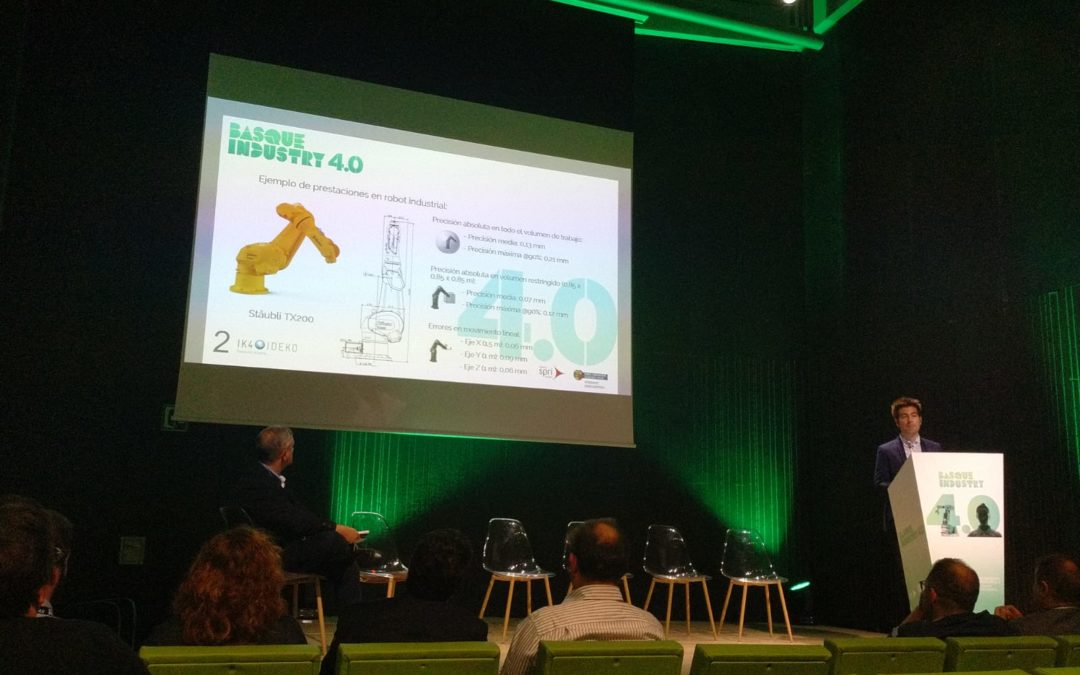 Collaborative research activities perfomed in COROMA, were presented in Basque Industry 4.0